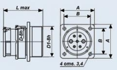 Соединители низкочастотные цилиндрические