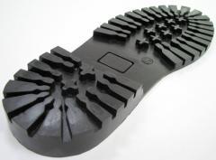 Підошви формованние бортопрошивние з гуми виду Р
