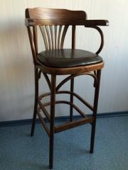 Chair Vienna bar with an armrest of KMF 305-01-2