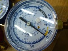 Manometer. VALUE EL of low pressure. Blue. R 410.