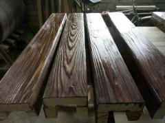 Потолочная  балка из сосны 70х120х70 мм.