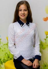 Блузка школьная длинный рукав для девочки и