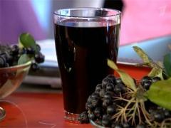 Сироп черноплодной рябины