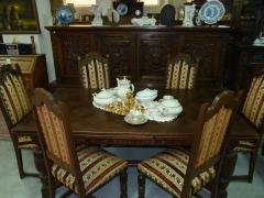 Комплект мебели. Комод, стол и 6 стульев. Франция