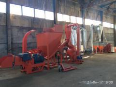 Briquette production line like Piny-Key 700kg/ch