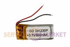 Литий-полимерный аккумулятор GD 041230P 3,7V 300 mAh 11x30mm , артикул 14780