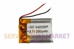 Литий-полимерный аккумулятор GD 042025P 3,7V 250 mAh 20x27mm , артикул 14775