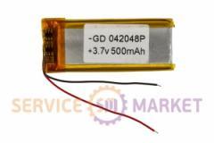 Литий-полимерный аккумулятор GD 042048P 3,7V 500 mAh 20x49mm , артикул 14774