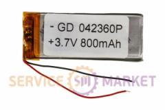 Литий-полимерный аккумулятор GD 042360P 3,7V 800 mAh 22x58mm , артикул 14757