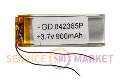 Литий-полимерный аккумулятор GD 042365P 3,7V 900 mAh 22x65mm , артикул 14755