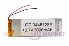 Литий-полимерный аккумулятор GD 0445128P 3,7V 3000 mAh 41x126mm , артикул 14758