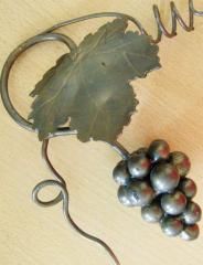 Декоативный кованый элемент Композиция виноградная средняя