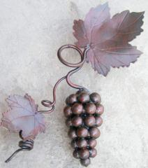 Декоративный кованый элемент Композиция виноградная большая