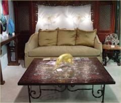 Mosaic table, coffee table with a mazayka from