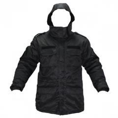 Куртка полиция на флисе черная 10003010