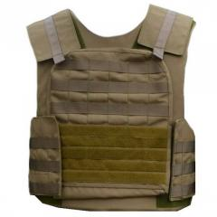 Cover on a bullet-proof vest