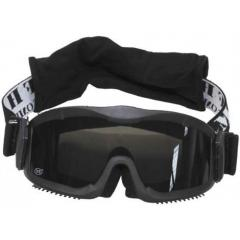 "Goggles of ""Thunder deluxe"" black with 2"