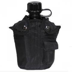 Фляга в чехле MFH 1 литр черная