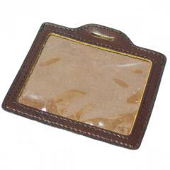 Чехол для бейджика ключа СКД кожаный