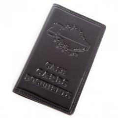 Peněženky kožené Suite Ukrajina (černo hnědá)