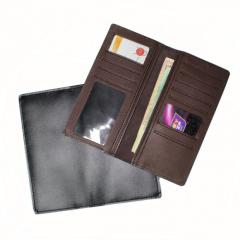Портмоне кожаное Престиж (черный коричневый) 10002849