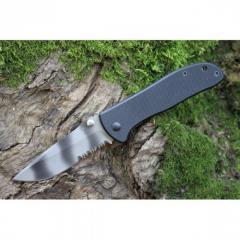 Нож складной с зазубринами камуфляж Sanrenmu