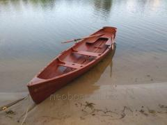 Аренда деревянной лодки