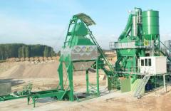 Plants asphalt. The asphalt plants moved,