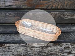 Диспенсер плетеный для столовых приборов