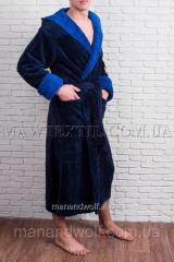 Мужской халат синий BMW