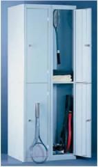 Металлический 4-х секционный шкаф для хранения