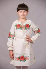 The embroidered dress for the girl of Ozhink