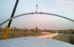 Конструкция покрытия зернохранилища
