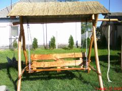Arbors wooden, swing, baths, tables, benches,