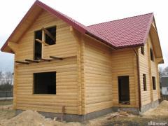 La casa de madera de profilirovannogo de la...