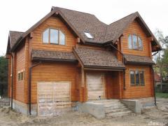 Drewniany dom z pasku solid klejone