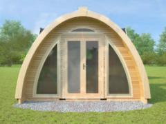 Деревянный дом из гнутоклееного бруса