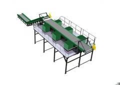 Мини-сортировочная линия твёрдых бытовых отходов (
