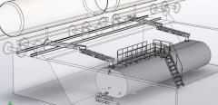 Емкость для хранения приема битума из ЖД-цистерн