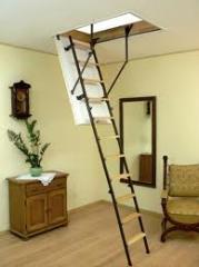 The ladder is garre