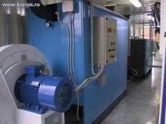 Hot air generator for heating inert Simun