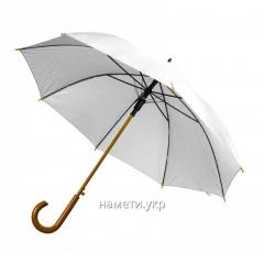 Umbrella cane semiautomatic device white