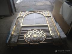 Балконне поруччя металеве зі сталі марки AІSІ-304 з покриттям нітридом титану (золочення)