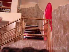 Перила балконные стальные с покрытием под...