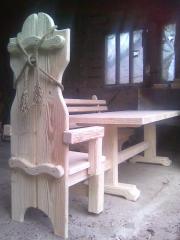 Столы и стулья декорированные