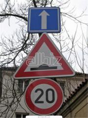 Signs are kilometer