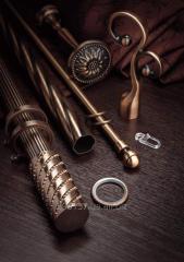 Карнизы кованые, металлопластиковые, металлический