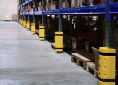 Защита стеллажного оборудования. Защита стоек