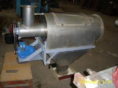The sieve is centrifugal, rotational
