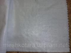 Polypropyleen tas 55 x 105 cm, 50 kg, 63 g, witte UA bloem, 500pcs/pak
